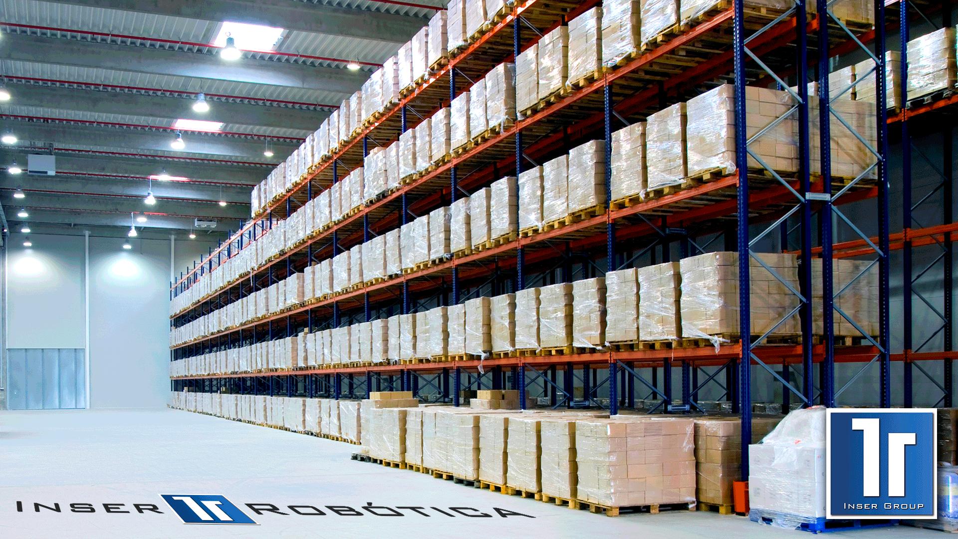 Largueros para estantería industrial
