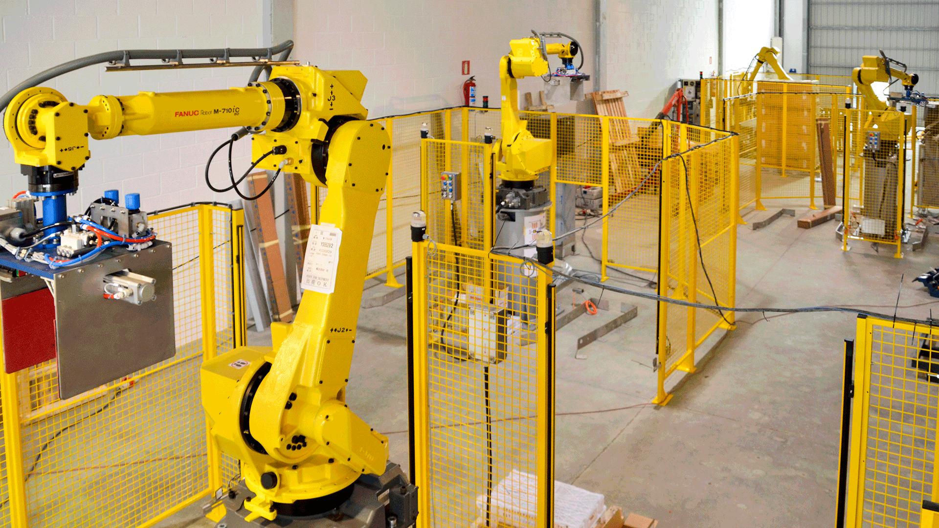 Puesta en marcha de células de paletizado con robots fanuc