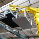 Célula robotizada para el paletizado de cajas que contienen alimentos congelados