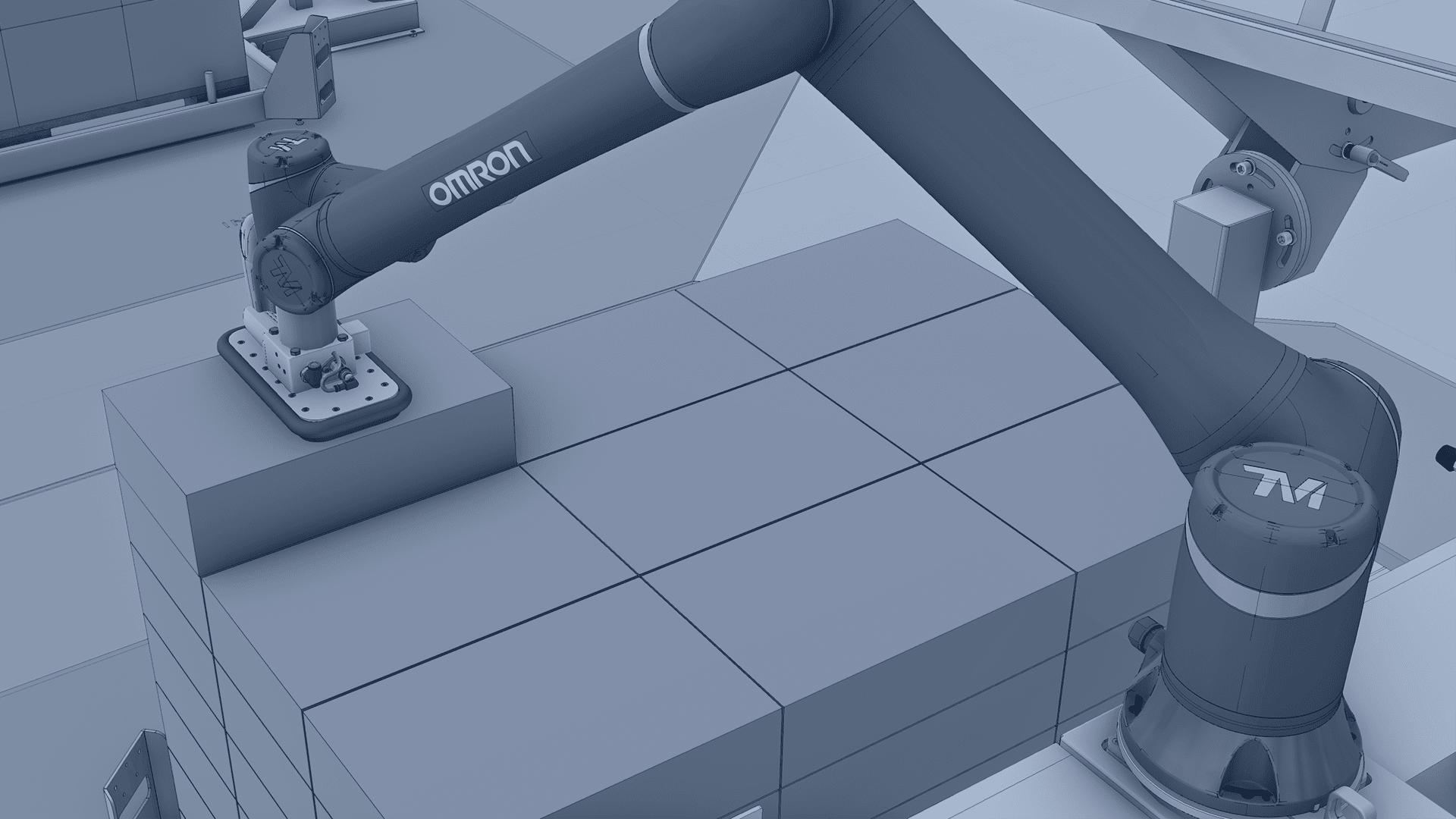 Robot Colaborativo de Omron Paletizando