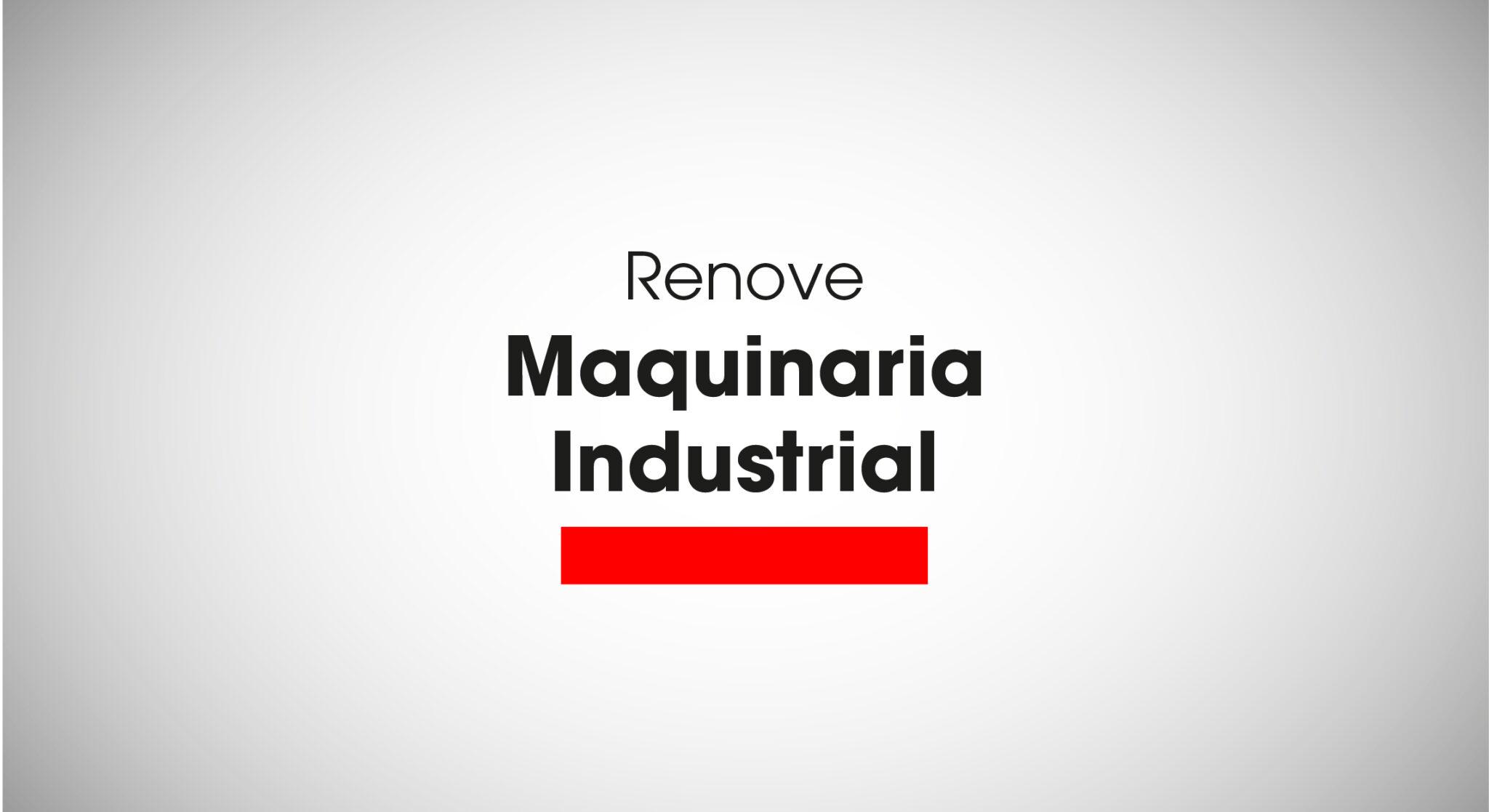 Renove Maquinaria 2020